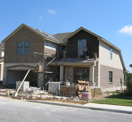 Home construction on Elizabeth Court