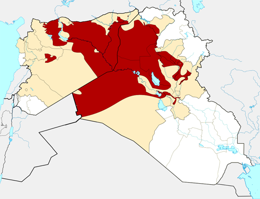 From Wikipedia: ISIS territory as of 24 August 2014