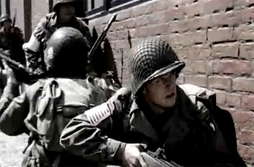 Easy Company in Nuenen (from YouTube)