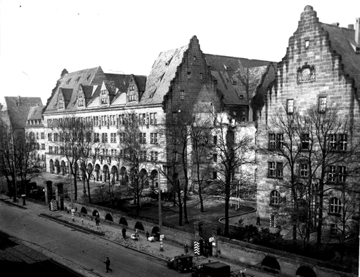 From Google Images. Apart from the Palace of Justice, the rest of Nuremberg was a bombed out mess. That's what you get for starting a World War that kills +50 million people.