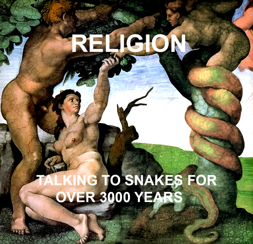 Michelangelo: Adam and Eve Talking to a Snake