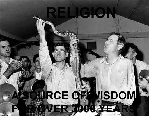 Snake handling at Pentecostal Church of God, Lejunior, Harlan County, Kentucky September 15, 1946 (National Archives and Records Administration). Photo by Russell Lee.