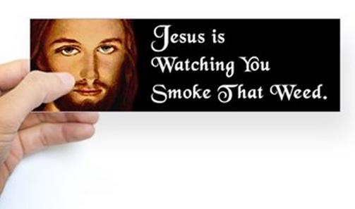 JesusWatchSmokeWeed