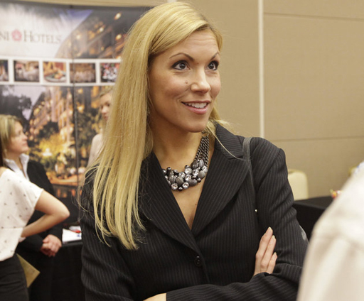 Irving Mayor Beth Van Duyne at a job fair Thursday, July 19, 2012, in Irving, Texas. (AP Photo/LM Otero)