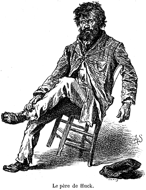 From a French version, Huckleberry Finn's father