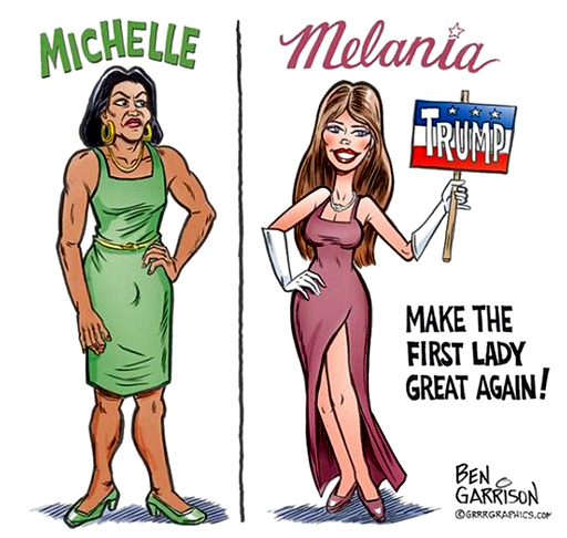 Politics-Michelle-Melania-Cartoon-Cover-image-2