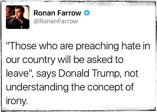 Politics-TrumpPreachHateIrony