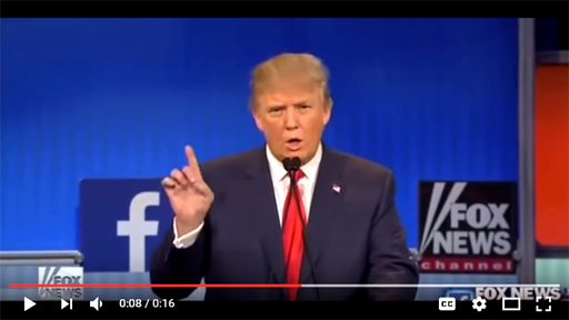 Donald Trump dumps on Rosie O'Donnell in primary debate on Fox